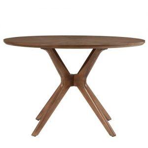 meja makan kayu bundar