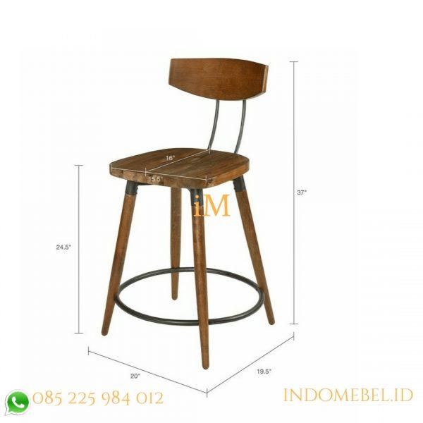 ukuran kursi bar industrial