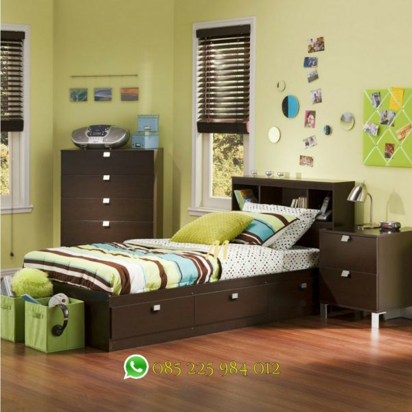 set tempat tidur anak laci