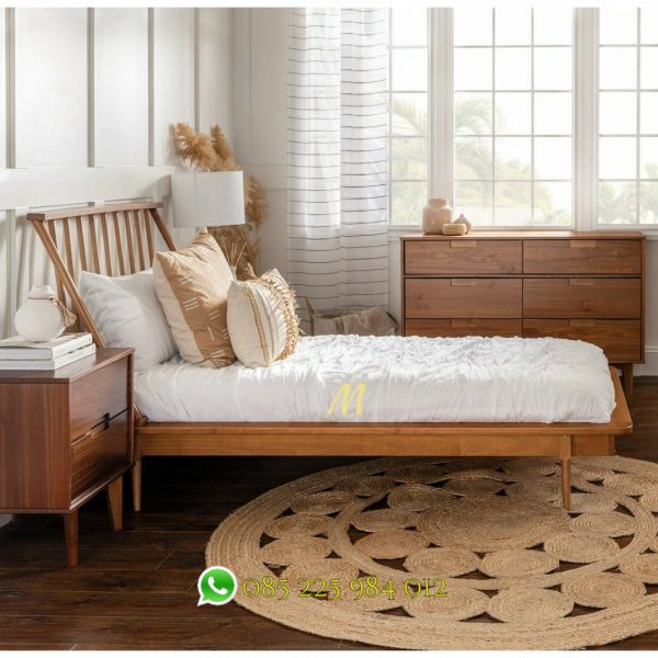 tempat tidur retro scandinavian