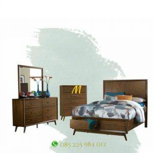 set kamar minimalis retro