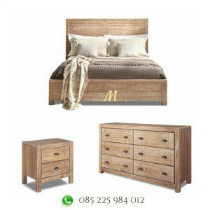 set tempat tidur minimalis natural