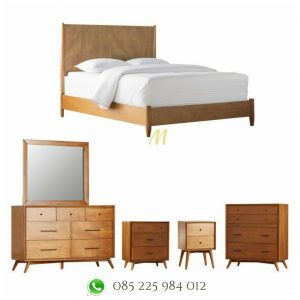 set tempat tidur minimalis retro