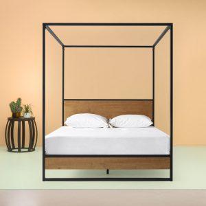 tempat tidur kanopi industrial