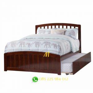tempat tidur sorong kayu