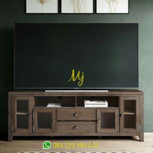 bufet tv minimalis jati solid