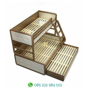 tempat tidur tingkat minimalis natural
